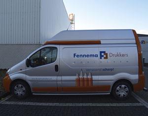 Bestelauto belettering Fennema Drukkers